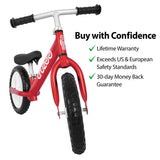Kids Balance Bike with lifetime warranty