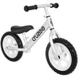 Kids Cruzee in Silver, the balance bike that's light and easy to learn on