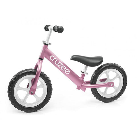 Cruzee Balance Bike for girls in pink, super light frame