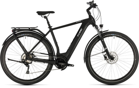 2020 Cube Kathmandu Hybrid Pro 500 mens frame ebike with built in carrier, lights, suspension seatpost, and Bosch CX motor