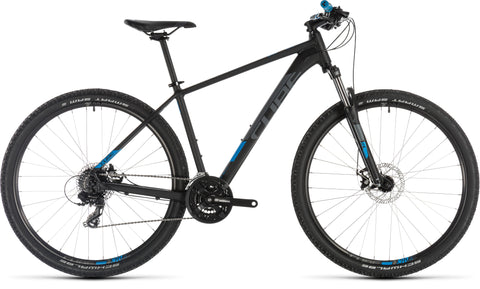 Cube Aim 29er 2019 hardtail mountain bike with suntour front suspension fork, 27.5 wheel, under $900