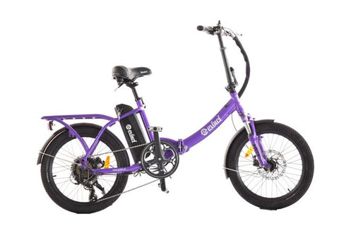 Evinci folding ebike in purple