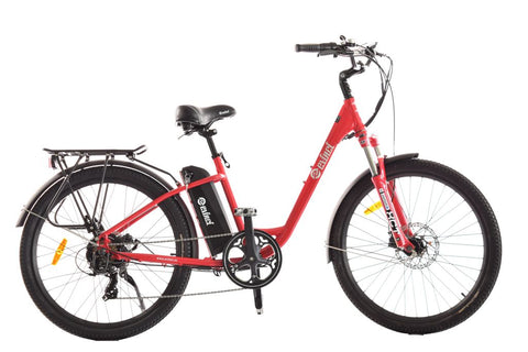 Evinci Tui Electric Bike with low step through frame for easy mount and dismount