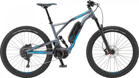 GT eVerb Amp Full suspension electric mountain bike with Shimano Steps electric power system, 27.5 plus,