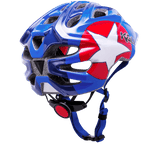 Kali Kids bike helmet with blue and red star