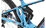 2018 Mondraker blue e-crafty R+ electric mountain bike zero suspension rear shock and Bosch CX Performance high torque mid mounted electric 250W motor and new Purion Computer