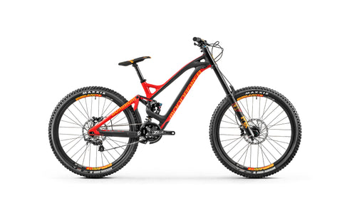 Mondraker 2018 Summum 27'5 Stealth Full Carbon, Zero Suspension System, 205mm travel, Forward Geometry, alloy upper link with shock eyelet bearings, 12x150mm rear axle, 83mm BSA bottom bracket, MAX. capacity sealed bearings, internal cable routing, ISCG 05. *Optional Geometry Kit.  	 Fork  Fox 40 27´5 Float FIT4 LSC EVOL Performance Elite 203m