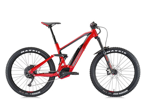 Moustache Samedi 27 Race 6 electric mountain bike with the highest torque 250 Bosch CX Performance motor and 500Wh Bosch PowerPack integrated battery pack for the best reliability.
