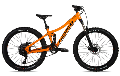 "2019 Norco Fluid 24 Full suspension Alloy Youth Mountain Bike in 24"" wheels"