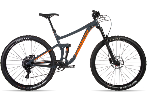 2019 Norco Sight A3 Alloy Frame All-Mountain Bike in grey and orange under $4500