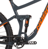 2019 Norco Sight A3 Alloy Frame All-Mountain Bike in grey and orange,  rear shock
