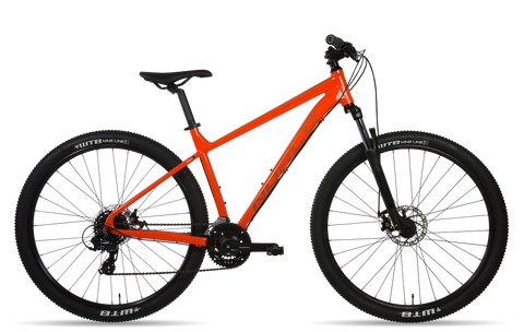 "Norco Storm 4 in orange - the best hardtail 27.5"" mountain bike in nz under $700"