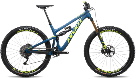 Blue Pivot Firebird 29er carbon frame enduro mountain bike
