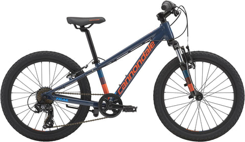 "2019 cannondale Trail 20"" kids bike with front suspension and 8 speed gears, shimano twist shifter."
