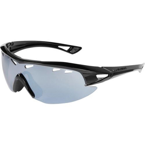 Madison Recon Glasses Gloss Black Frame - Silver Mirror Lens