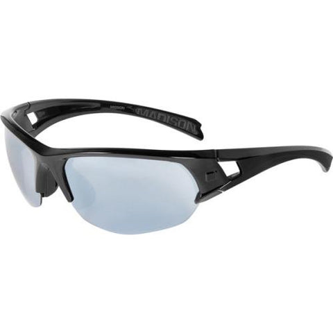 Madison Mission Glasses Gloss Black Frame- Silver Mirror Lens