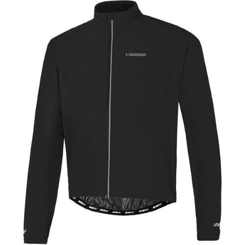 Madison Peloton Mens Waterproof Jacket Black Front