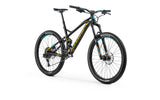 Mondraker Foxy Alloy frame 2018 Full suspension Enduro and All Mountain Style Bike with zero suspension technology and forward geometry for a longer wheelbase and more stable ride, with Boost 12x148mm rear axle, RockShox Monarch RT Solo Air HV tube, Rockshox Reba 27´5 RL Solo Air, 150mm, Tapered head tube, 15x110mm Boost axle, 32mm aluminium bars.