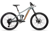 29er Enduro Mountain Bike new for 2019, the Norco Range A1 aluminium frame full suspension in concrete grey and orange