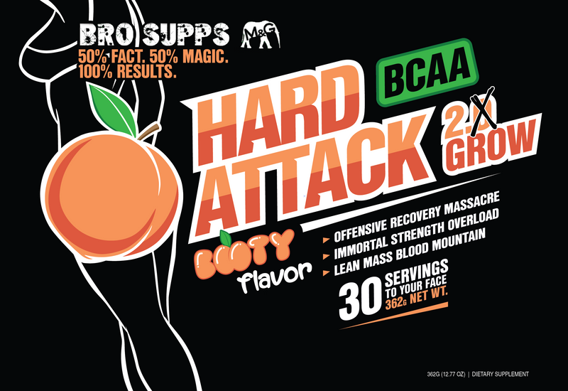 BroSupps BCAA Hard Attack - Booty Flavor