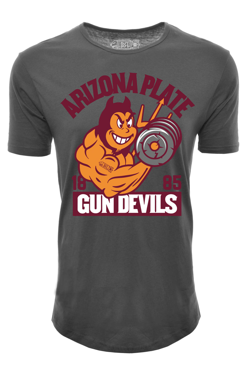 Arizona Plate Gun Devils Elongated College Shirt - Dark Grey
