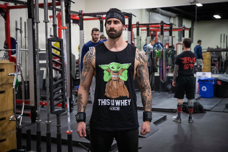 This Is the Whey Baby Growda Tank Cut-Off -Black