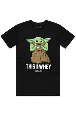 This Is the Whey Baby Growda Straight Bottom Shirt - Black