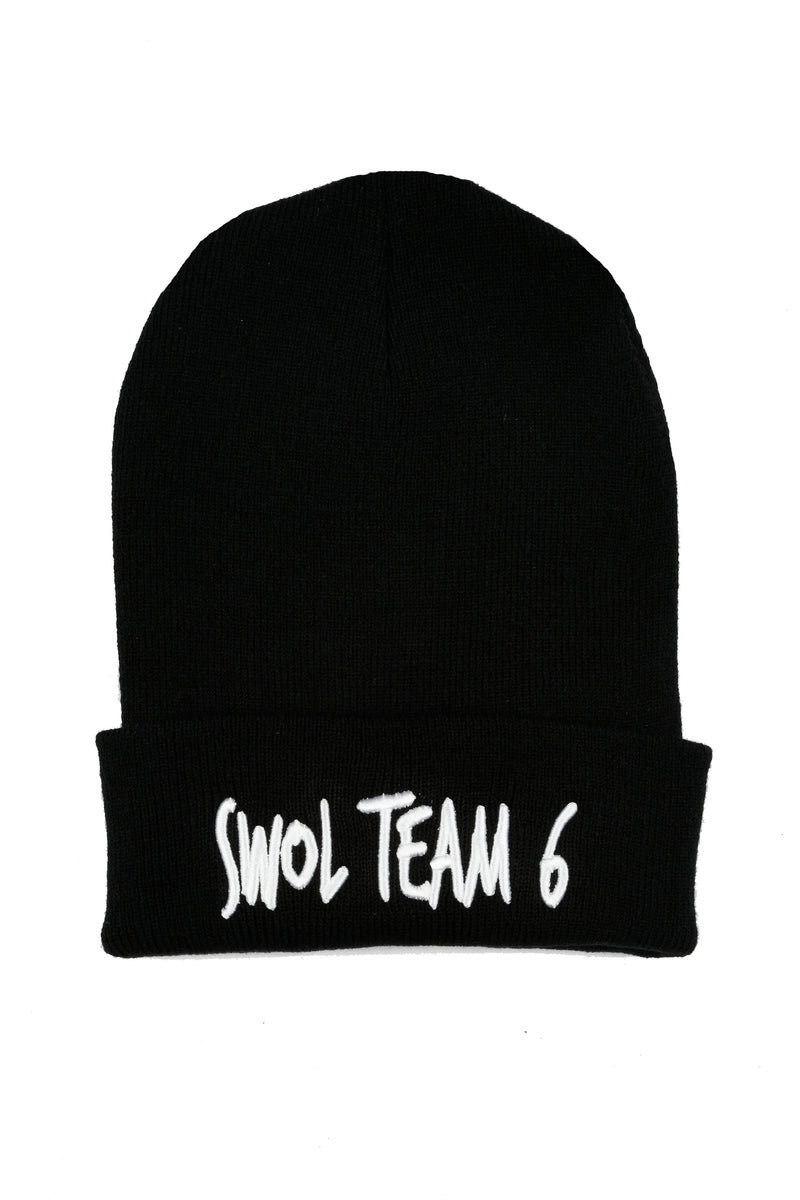 Swole Team 6 Beanie - Black