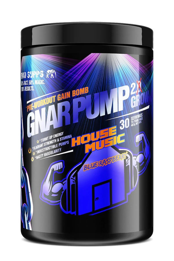 BroSupps Gnar Pump 2.Grow Pre-Workout House Music  - Blue Raspberry