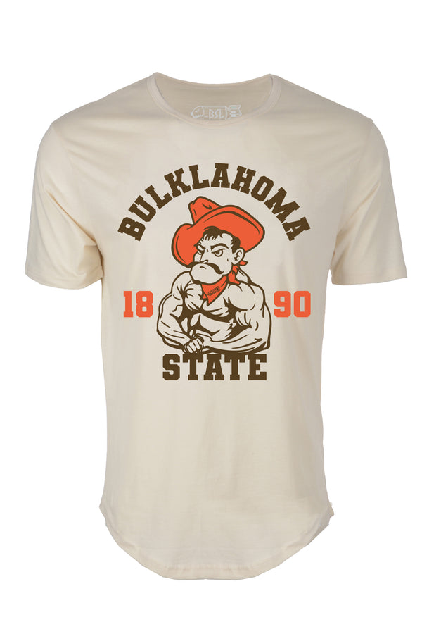 Bulklahoma State Elongated College Shirt - Off-White