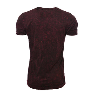 Make It Gain Acid Wash Shirt - Burgundy