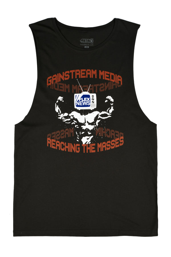 BSL Gainstream Muscle Tank Cut-Off - Charcoal