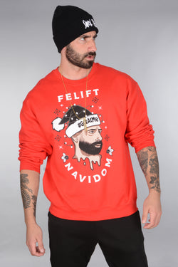 BSL Felift Navidom Christmas Sweater- Red