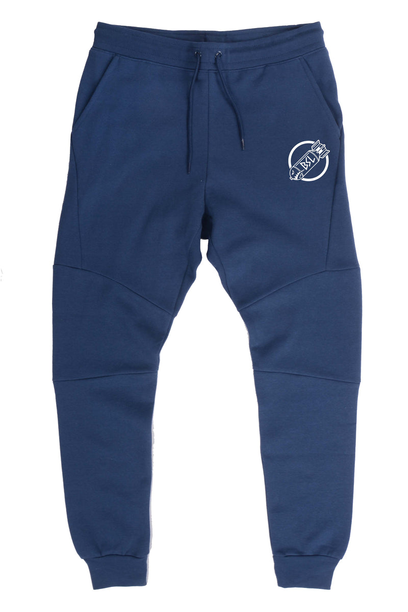 BSL203 Premium Fleece Joggers- Blue