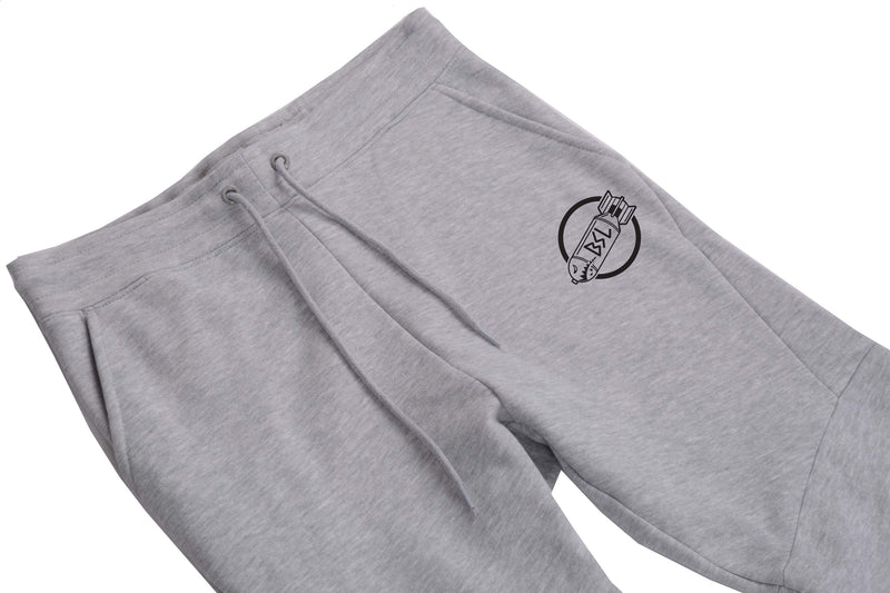 BSL203 Premium Fleece Joggers - Heather Grey