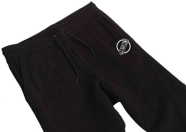 BSL203 Premium Fleece Joggers- Black