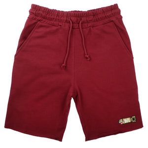 BSL Premium French Terry Shorts - Burgundy