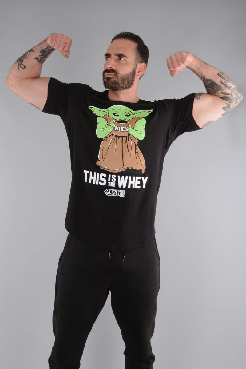 This Is the Whey Baby Growda Shirt - Black