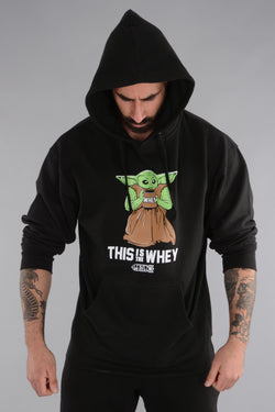 This Is The Whey Baby Growda Hoodie- Black