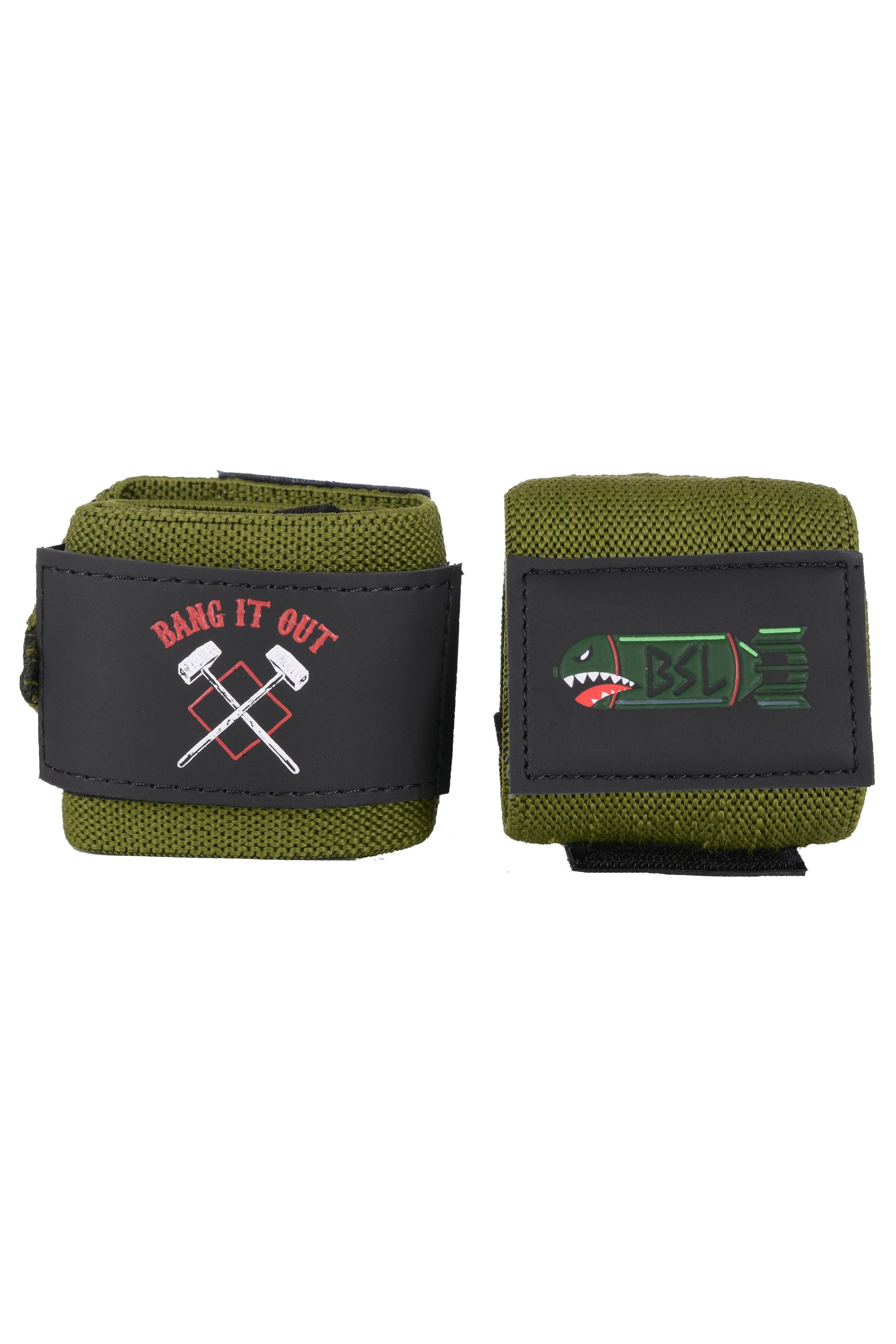 "BSL Bang it Out Wrist Wraps 18""- Olive"