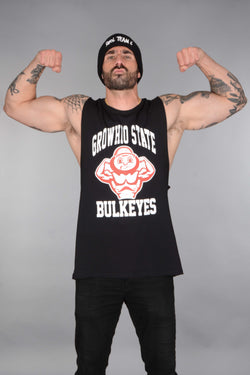 Growhio State Bulkeyes College Tank Cut-Offs - Black
