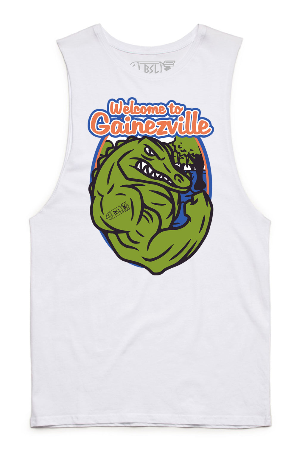 Gainezville Tank Cut-Offs - White