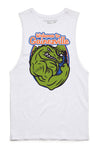 Gainezville College Tank Cut-Offs - White