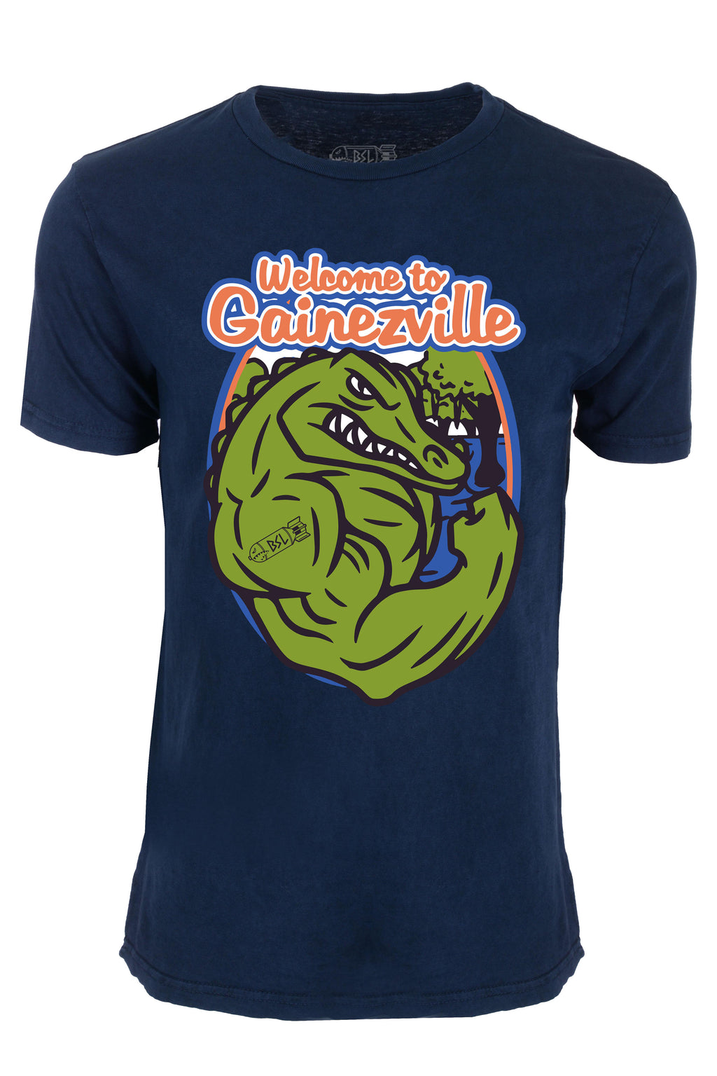 the best attitude 2bd1b e8de1 Gainezville College Tee - Vintage Blue