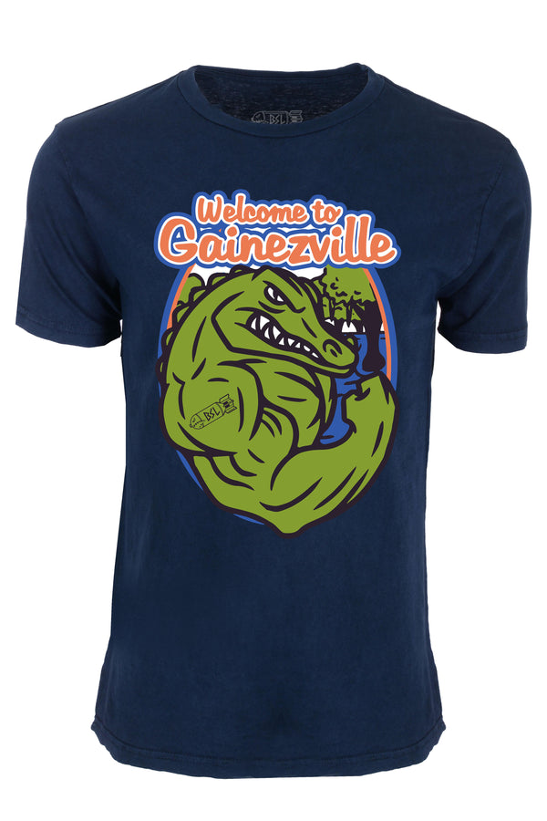 Gainezville College Tee - Vintage Blue