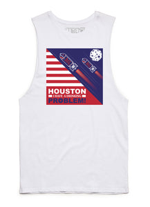 BSL Houston I have a Drinking Problem Muscle Tank Cut-offs- White