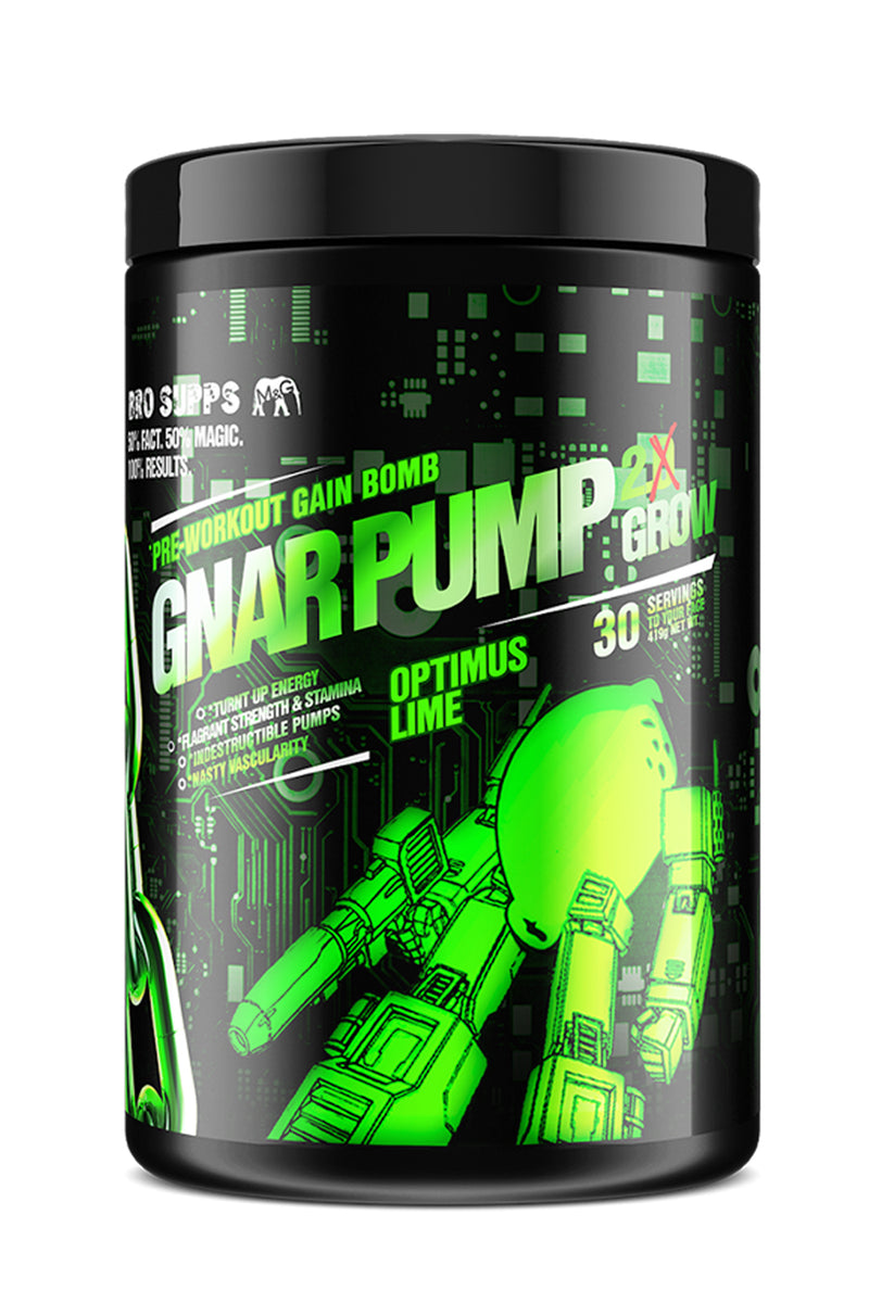 BroSupps Gnar Pump 2.Grow Pre-Workout - Optimus Lime