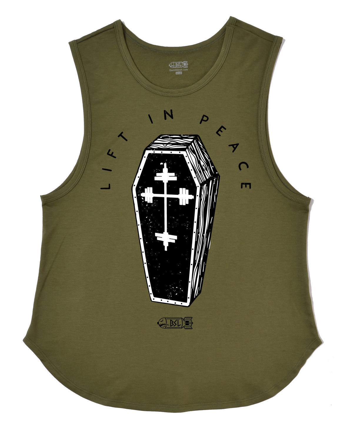 Lift In Peace Muscle Tank - Olive