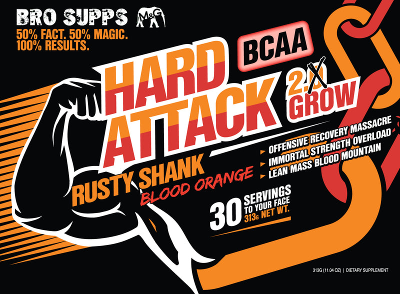 BroSupps BCAA Hard Attack - Blood Orange