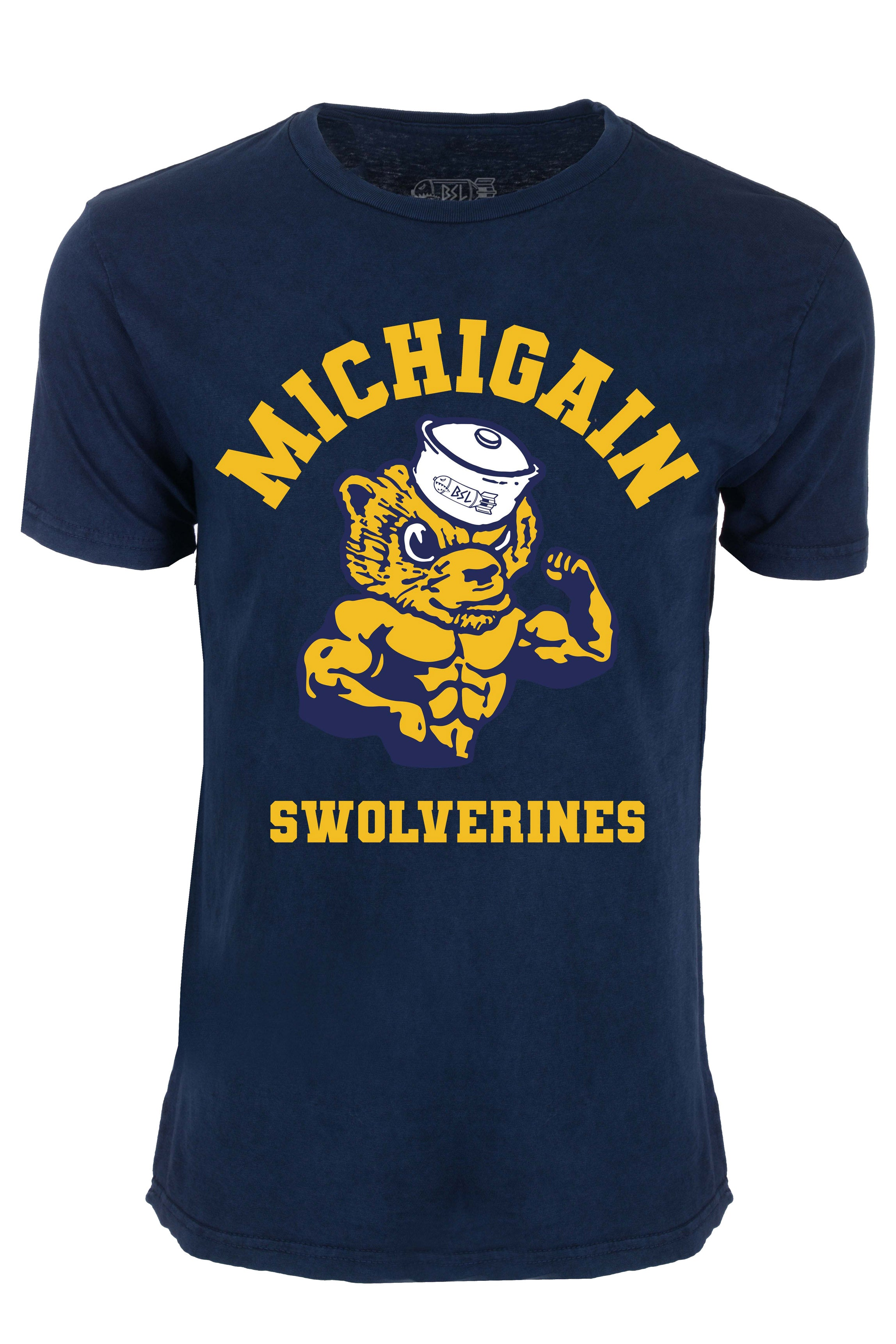 Michigain Swolverines College Tee - Vintage Blue
